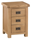 Cotswold Oak Large 3 Drawer Bedside