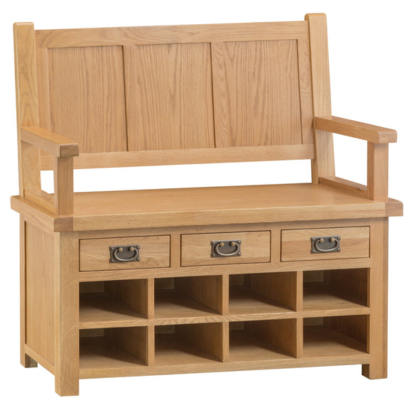 Cotswold Oak Monks Bench