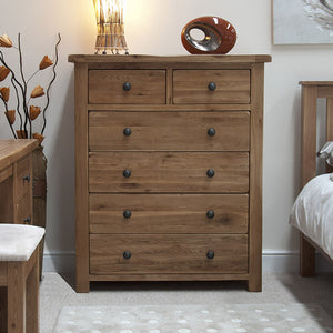 Country Rustic Oak 2 over 4 Chest