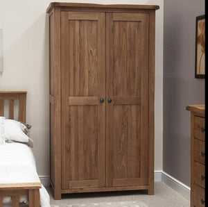 Country Rustic Oak Full Hanging Wardrobe