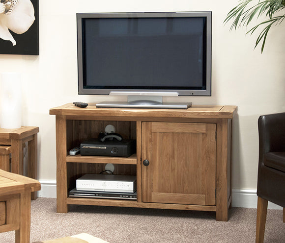 Country Rustic Oak TV Cabinet