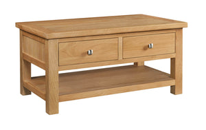 Chalton Oak Coffee Table With 2 Drawers