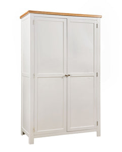 Chalton Painted & Oak Full Hanging Wardrobe
