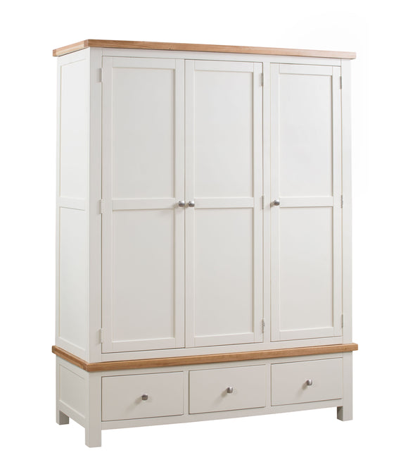 Chalton Painted & Oak Triple Wardrobe