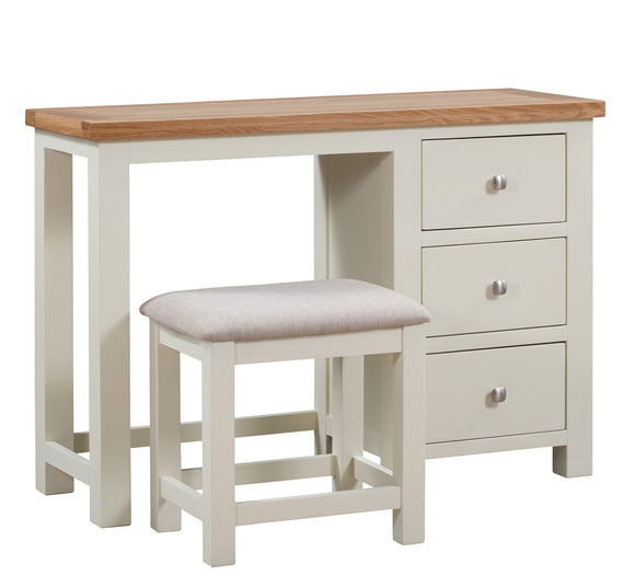 Chalton Painted & Oak Dressing Table and Stool Set