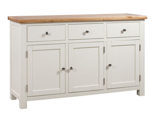 Chalton Painted & Oak 3 Door Sideboard