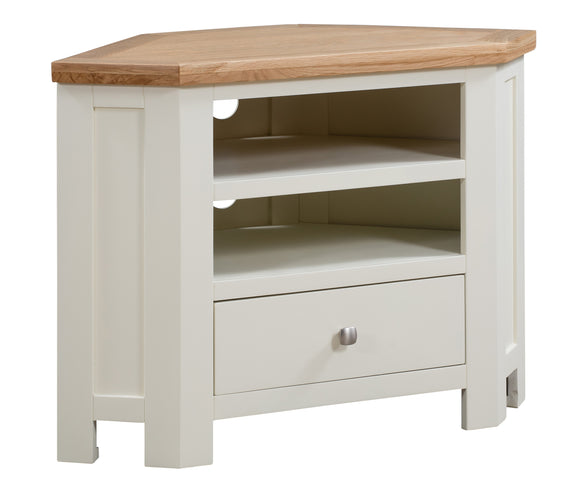 Chalton Painted & Oak Corner TV Unit