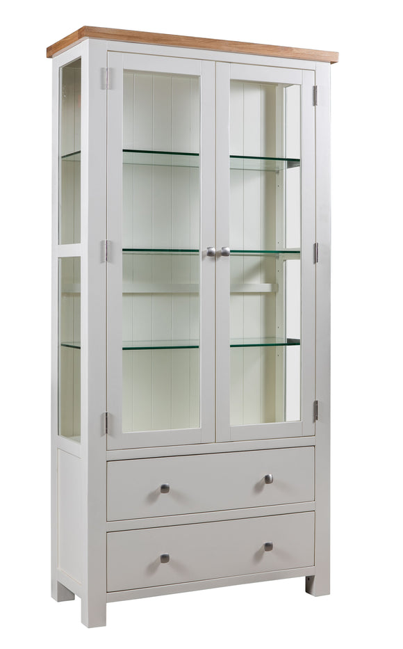 Chalton Painted & Oak Display Cabinet