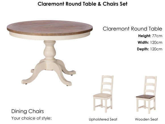 Claremont Round Table and 4 Chairs Set