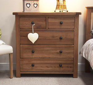 Country Rustic Oak 2 over 3 Chest
