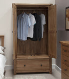 Country Oak 1 Drawer Wardrobe