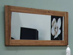 Country Rustic Oak Large Mirror