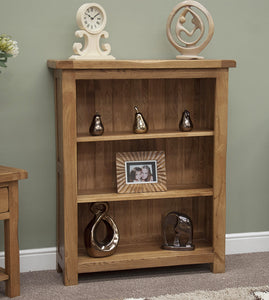 Country Rustic Oak Small Bookcase