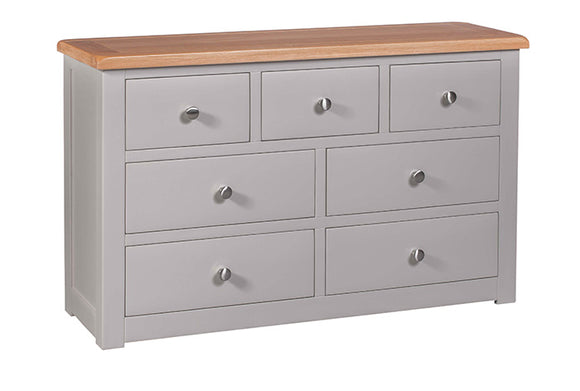 Amberley Grey Painted and Oak 7 Drawer Chest