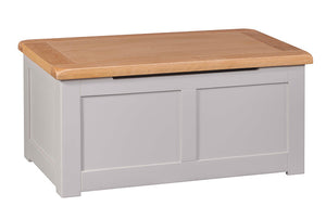 Amberley Grey Painted and Oak Blanket Box