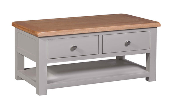 Amberley Grey Painted and Oak Coffee Table