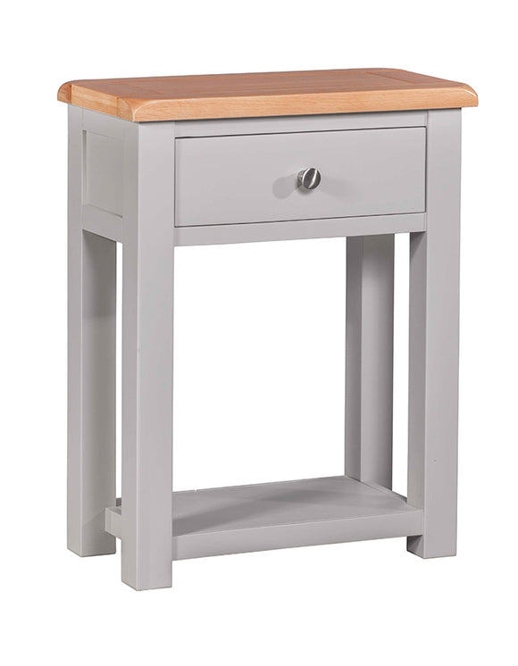 Amberley Grey Painted and Oak Small Hall Table