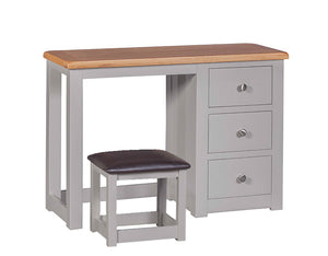 Amberley Grey Painted and Oak Dressing Table & Stool