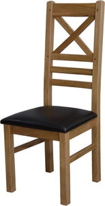 Easebourne Rustic Oak Crossback Dining Chair