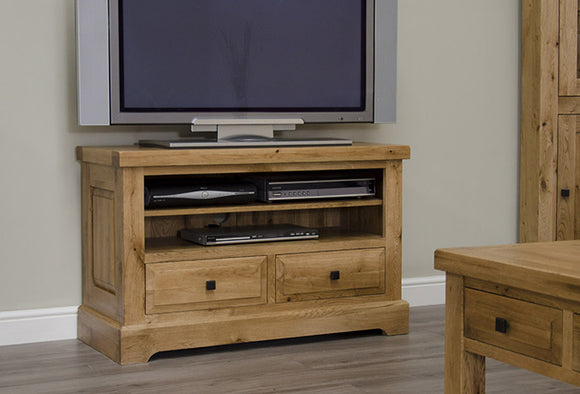 Easebourne Rustic Oak TV Unit