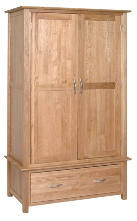 Essential Oak 1 Drawer Wardrobe