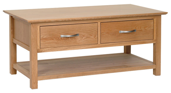 Essential Oak Coffee Table With Drawers