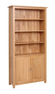 Essential Oak Bookcase With Cupboard - What Nots Online
