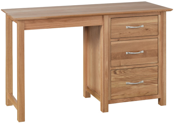 Essential Oak Single Pedestal Dressing Table