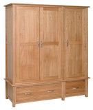 Essential Oak Triple Wardrobe