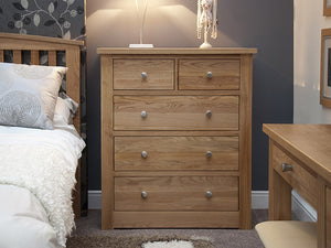 Fernhurst Oak 2 over 3 Chest of Drawers