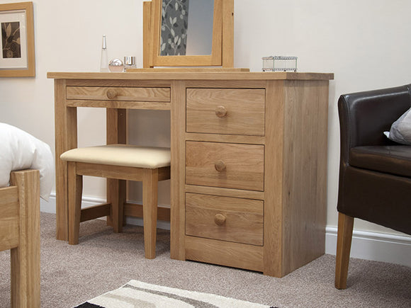 Fernhurst Oak Dressing Table and Stool