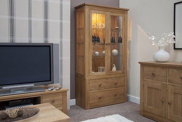 Fernhurst Oak Glass Display Unit