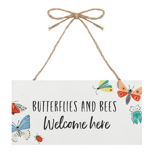 Bees & Butterflies Welcome Sign