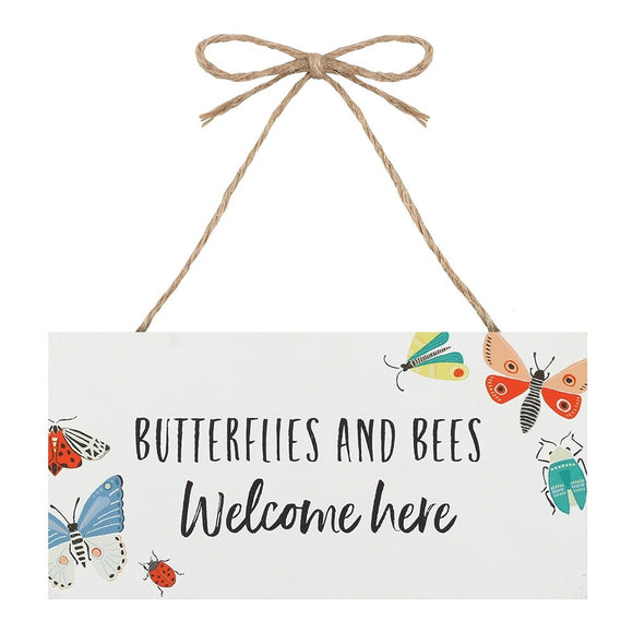 Bees & Butterflies Welcome Sign - What Nots Online