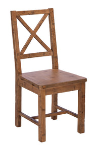 Quayside Reclaimed Furniture Wooden Seat Dining Chair