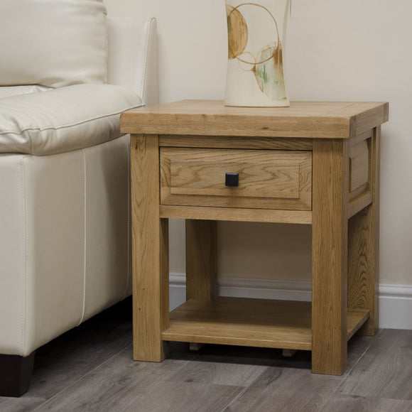 Easebourne Rustic Oak Lamp Table