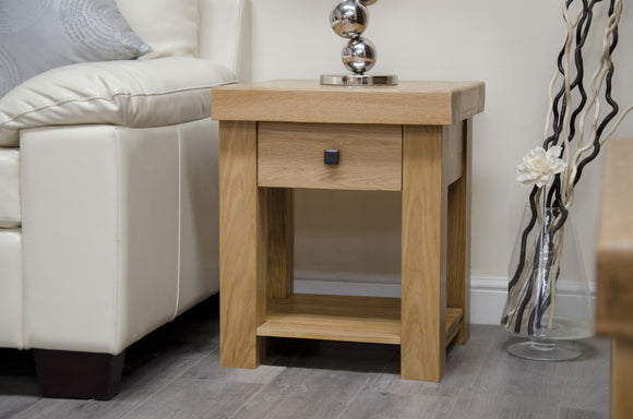 Lyon Solid Oak Lamp Table