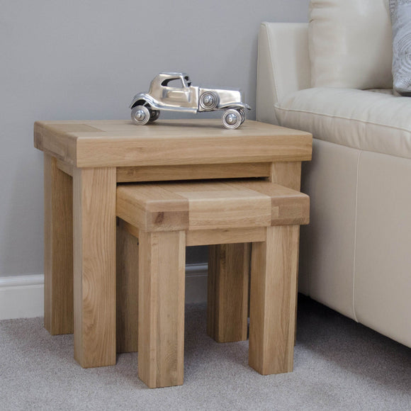 Lyon Solid Oak Nest of Tables