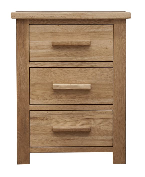Midhurst Oak 3 Drawer Bedside