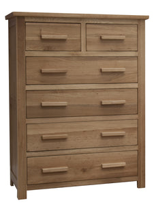 Midhurst Oak 2 over 4 Chest of Drawers