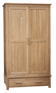 Midhurst Oak 1 Drawer Wardrobe