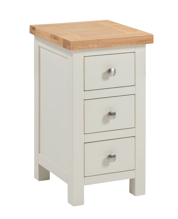 Chalton Painted & Oak Mini 3 Drawer Bedside