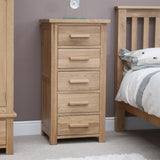 Midhurst 5 Drawer Narrow Chest of Drawers