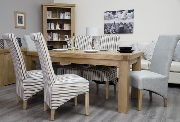Lyon Solid Oak Large Fixed Top Dining Table