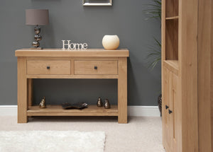 Lyon Solid Oak Console Table