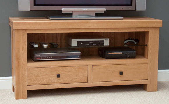 Lyon Solid Oak TV Unit