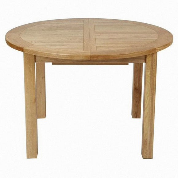 Bergerac Solid Oak Round Extending Table