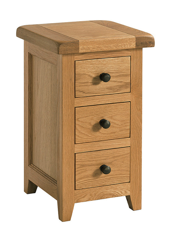 Salcombe Oak Mini 3 Drawer Bedside