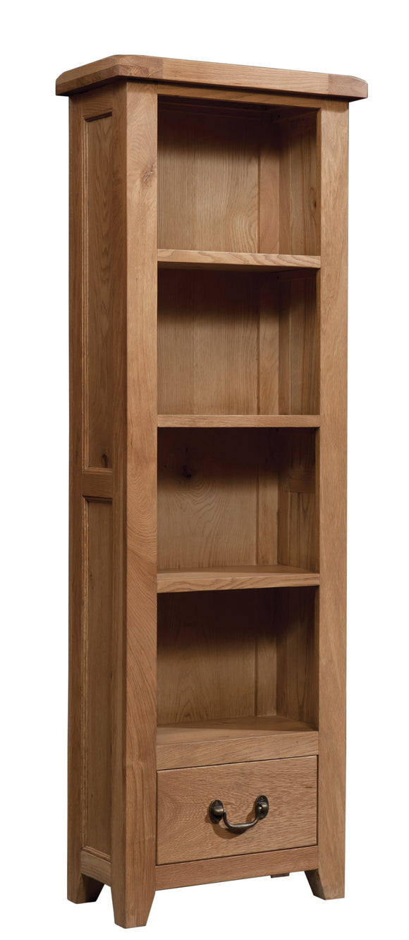 Salcombe Oak Bookcase Tall Narrow