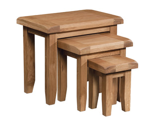 Salcombe Oak Nest of Tables